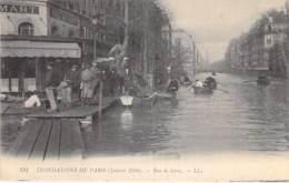 75 - PARIS 12 ° ( Inondations 1910 - Crues De La Seine ) Rue De Lyon  - CPA - - La Crecida Del Sena De 1910