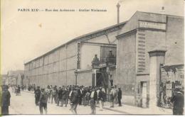 PARIS XIXéme Rue Des Ardennes Atelier NICLAUSSE (sortie Du Personnel) - District 19