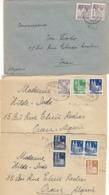 """Bizone , Divers Timbres Sur 3 Lettres Pour L""""Algérie , 1950/51 - Bizone"""