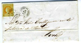 ESPAÑA 1860 CARTA  De  GRANDAS DE SALIME DIC 60 Hasta AVILES     LC 14 - 1850-68 Reino: Isabel II