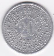 75. Paris. Chemin De Fer Du Bois De Boulogne  1921 – 9 Fermé , En Aluminium - Monétaires / De Nécessité