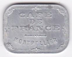 34. Hérault. Montpellier. Café De France, En Aluminium - Monetari / Di Necessità