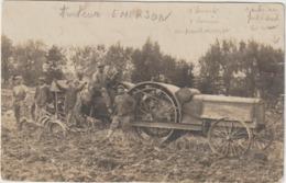 CPA   CARTE PHOTO  TRACTEUR  BEAU PLAN  CERTAINEMENT EMERSON  ,?  BORDEAUX LE 20 JUILLET 1929 - Tracteurs