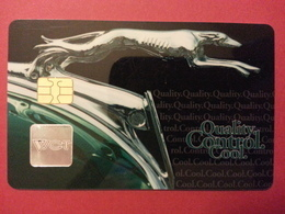 VCT Quality Control Cool Card Visa And Mastercard Chip Puce WCT (BF1217 - Herkunft Unbekannt