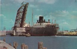 CORPUS CHRISTI , Texas , 50-60s ; Freighter At Draw Bridge - Corpus Christi