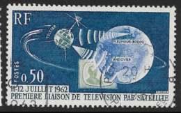 Yvert 1361 Maury 1361 - 50 C Liaison Satellite - O - Oblitérés