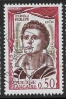 Yvert 1305 Maury 1305 - 50 C Gérard Philippe - O - Oblitérés