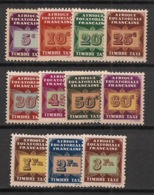 AEF - 1937 - Taxe TT N°Yv. 1 à 11 - Série Complète - Neuf Luxe ** / MNH / Postfrisch - Unused Stamps