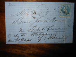 Lettre GC 4200 Vienne Le Chateau Marne Avec Correspondance - 1849-1876: Période Classique