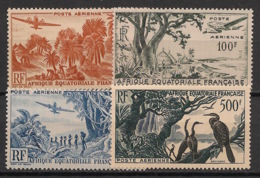 AEF - 1947-52 - Poste Aérienne PA N°Yv. 50 à 53 - Série Complète - Neuf Luxe ** / MNH / Postfrisch - Unused Stamps