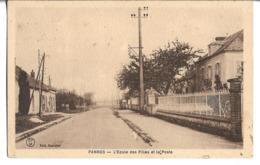 CPA   De    PANNES    (54)   -  L' Ecole  Des  Filles  Et  La  Poste   //    TBE - Autres Communes