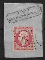 France N°17Ba Rose Vif Oblitéré ES Dans Losange De Paris. Cote 95€ - Poststempel (Einzelmarken)