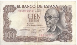 Spagna 100 Pesetas 1970 - P.152 - [ 4] 1975-… : Juan Carlos I