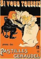 """CPM - Publicité -  Si Vous Toussez Prenez Des """"PASTILLES GÉRAUDEL (Ogé). - Pubblicitari"""