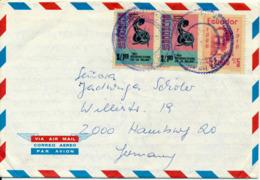 GALAPAGOS / ECUADOR - 1976 , Picture Envelope Nach Hamburg - Ecuador