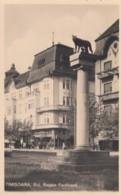 Timisoara Romania, View Of Town And Monument Regele Ferdinand, C1930s Postally Used Vintage Postcard - Romania