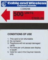286/ Cayman Islands; P3. Red Arrow, 500 Ut. - Iles Cayman