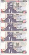 KENYA 100 SHILLINGS 2010 P- 48 LOT X5 UNC NOTES */* - Kenia