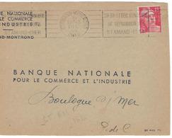 ST AMANT MONTROND RBV 1949 DREYFUSS 1994 ST-AM162 Cote 200F DEVANT SEUL CONCOURS DE REPRODUCTEURS ELEVAGE ANIMAUX FERME - Marcophilie (Lettres)