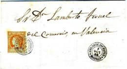 ESPAÑA 1860 CARTA  RARA  AMBULANTE  ADESC 2a ESPED MADRID     LC 17 - 1850-68 Royaume: Isabelle II
