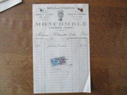 LIESSE AISNE MOCOMBLE BOULANGERIE FARINE A CYLINDRE SPECIALITE DE CROISSANTS  FACTURE DU 16/11/1927 - Frankreich