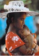 Polynésie Française- Maternité Polynésienne (bébé Maman Chapeau  Hat )(Photo Erwin Christian 314 Tahiti) @*PRIX FIXE - Polynésie Française