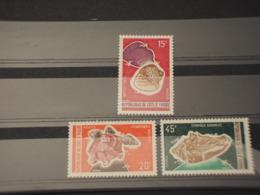COTE D'IVOIRE - 1972 CONCHIGLIE 3  VALORI - NUOVI(++) - Costa D'Avorio (1960-...)