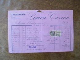 N-D DE LIESSE AISNE LUCIEN CREVEAU IMPRIMERIE  FACTURE DU 25 JUIN 1929 - Frankreich