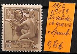 [830981]TB//**/Mnh-Belgique 1922 - N° 189, Invalides De Guerre - Usados
