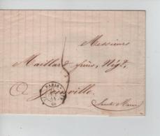 PR7523/ Précurseur LSC C.Paris 25-Oct-1844 Port 5 > Juinville C.d'arrivée - 1801-1848: Precursores XIX