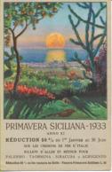 PRIMAVERA SICILIANA 1933  Carte Publicitaire Pour Les Chemins De Fer D'Italie - Italy