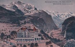 Wengen Berner Oberland, Regina Hotel Blümlisalp (13.7.21) - BE Berne