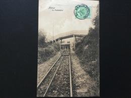 CPA De 1908 Namur Le Funiculaire Trois Personnes Dans Le Wagon Sous Un Pont Rustique - Namur