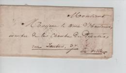 PR7525/ Précurseur LAC Daté Paris 1847 C .Paris P.P. Dist.de 2H > Comte Hautrive Député > E/V C.Levée De Midi Port 3 - 1801-1848: Precursores XIX