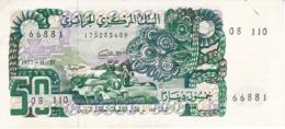 BILLETE DE ARGELIA DE 50 DINARS DEL AÑO 1977 SIN CIRCULAR - UNCIRCULATED (BANKNOTE-BANK NOTE) - Algeria