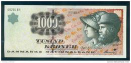 Denmark 1000,  1,000 Kroner. 1998. OLD Sign. UNC. A0981. Bodil Nyboe Andersen - Danimarca