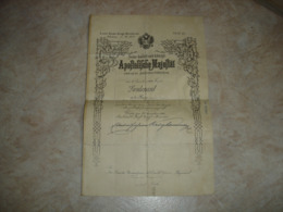 RARE - HONGRIE HUNGARY NOMINATION + ETAT DE SERVICE LIEUTENANT JULIUS VUK ( ARMEE AUSTRO HONGROISE BUDAPEST 1901 1914 ) - Dokumente