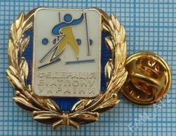 UKRAINE / Badge, Pin / Biathlon Federation. - Biathlon
