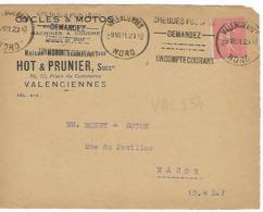 VALENCIENNES KRAG 1931 DREYFUSS 1994 VAL354 Cote 20F Chèques Postaux Demandez Un Compte Courant DEVANT SEUL - Annullamenti Meccanici (pubblicitari)