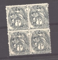 France  :  Yv  107b  ** Bloc De 4 , Type II - 1900-29 Blanc