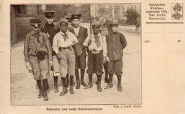 SCHWARZE UND WAISSE SCHULKAMARADEN-DEUTSCHER KNABEN KALENDER 1911 DER GUTE KAMERAD - Non Classificati