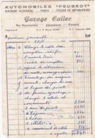 FACTURE 1951 AUTOMOBILE PEUGEOT GARAGE CALLEC  / CROZON FINISTERE / - Francia
