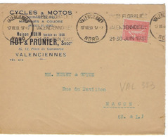 VALENCIENNES KRAG 1930 DREYFUSS 1994 VAL353 Cote 250F DEVANT SEUL FLORALIES VALENCIENNOISES JUIN 1930 - Annullamenti Meccanici (pubblicitari)