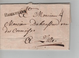 PR7528/ Précurseur LAC Daté Bruxelles 1746 Griffe Noire Bruxelles Port 4 > Lille - 1714-1794 (Pays-Bas Autrichiens)