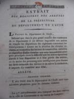 ARPENTAGE 11 GÉOMÈTRES POUR DEFINIR CHEMINS VICINAUX EXTRAIT REGISTRES DE L AUDE 1808 - Documents Historiques