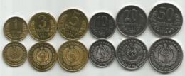 Uzbekistan 1994. Set Of 6 High Grade Coins 1-50 Tiyin - Uzbekistan