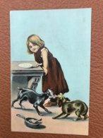 1 CP Enfant Chiens Série 729 - Children