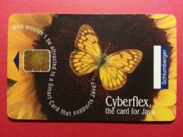 Test Schlumberger Cyberflex Java Papillon Avec Puce Et Numéros Au Verso Demo (BF1217 - Herkunft Unbekannt