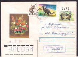 Kazakhstan - 1993 - Lettre - Dinosaure - Saurolophus - Poste Aérienne - Aerogramme - Timbre Diverse - Vor- U. Frühgeschichte