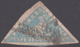 CLASSIC COGH SG14 4d Pale Blue WOODBLOCK Triangle - África Del Sur (...-1961)